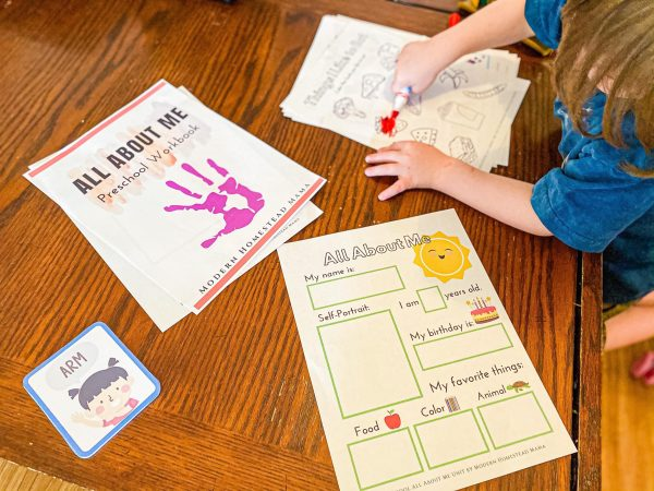 All About Me Printable Workbook for Preschoolers