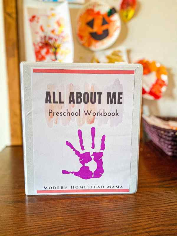 All About Me Pre-K Workbook