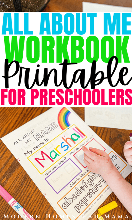 All About Me Printable Workbook for Preschoolers | Modern Homestead Mama
