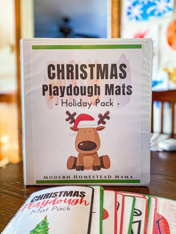 Christmas Playdough Mat Pack