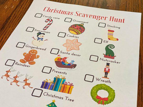 Christmas Scavenger Hunt from Workbook