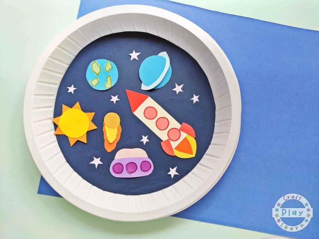 Paper Plate Space Craft
