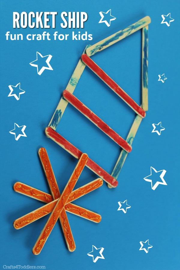 Rocket Ship Craft Stick Craft