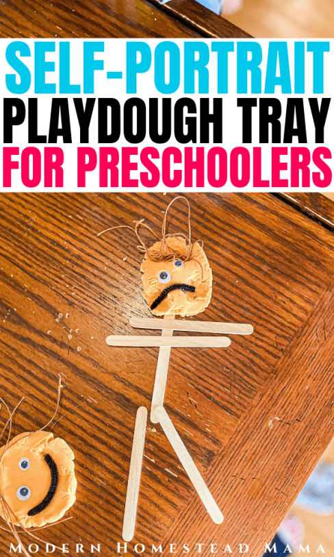Self-Portrait Playdough Tray for Preschoolers | Modern Homestead Mama