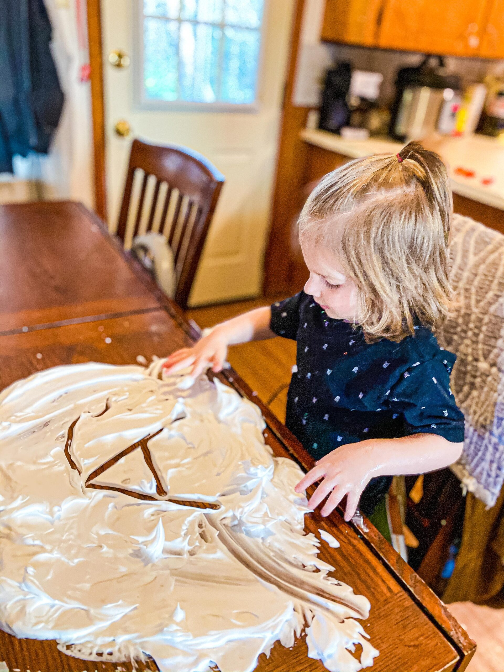 Shaving Cream Snow Sensory Writing Preschool Winter Activity