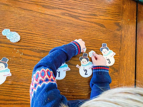 Snowman Counting Printable Activity for Preschoolers