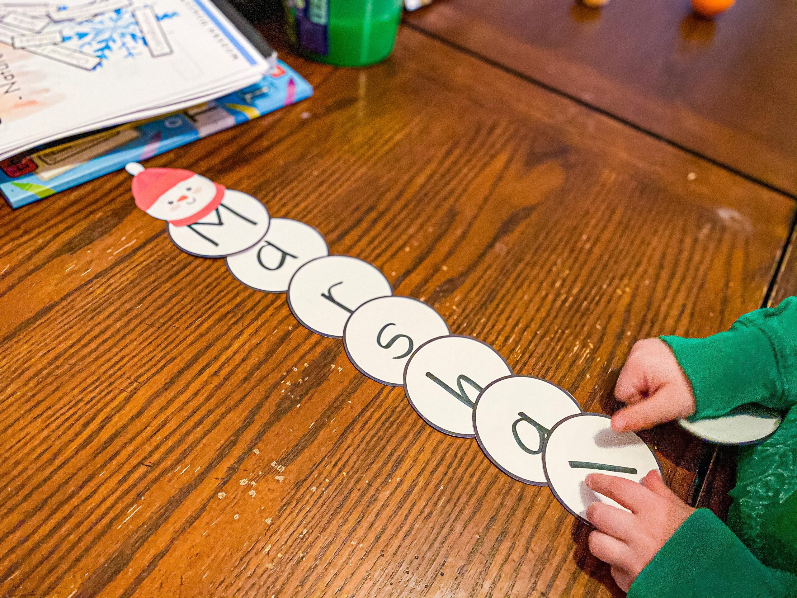 Snowman Name Building Activity for Preschoolers