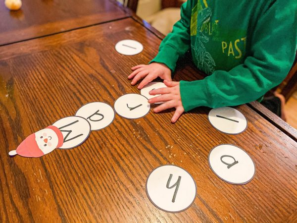 Snowman Name Building Activity for Preschoolers