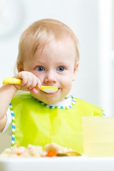 Toddler Eating Meal