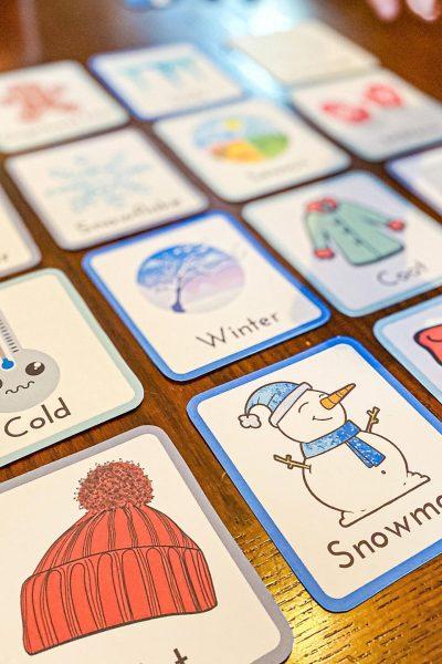 Winter Flashcards for Preschoolers