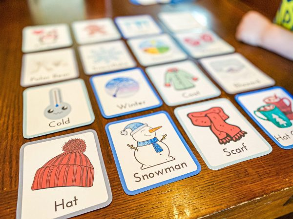 Winter Flashcards for Preschoolers