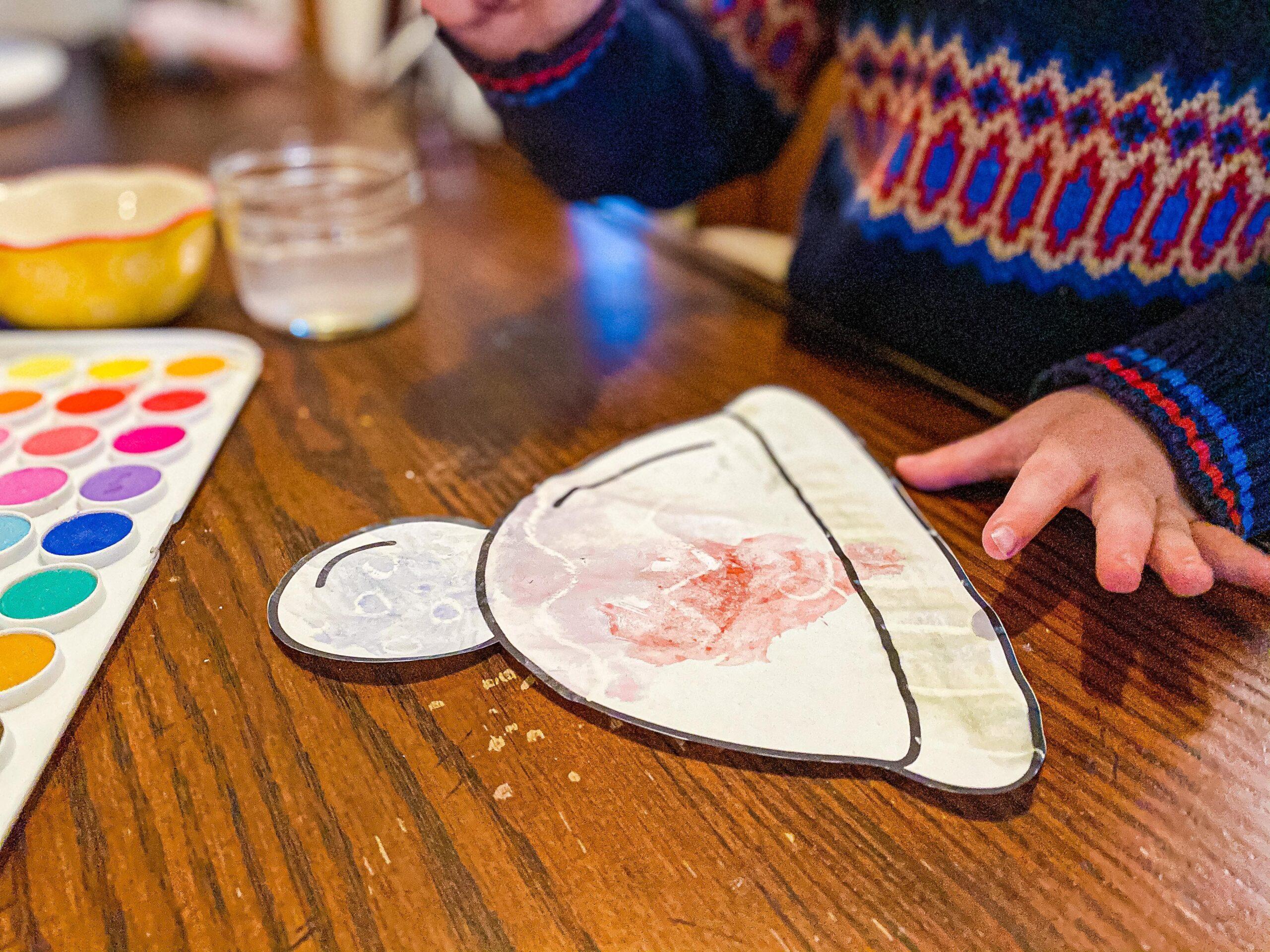 Winter Hat Craft for Preschoolers | Magic Crayon Resist Art Project