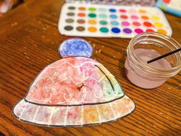 Winter Hat Craft for Preschoolers   Magic Crayon Resist Art Project