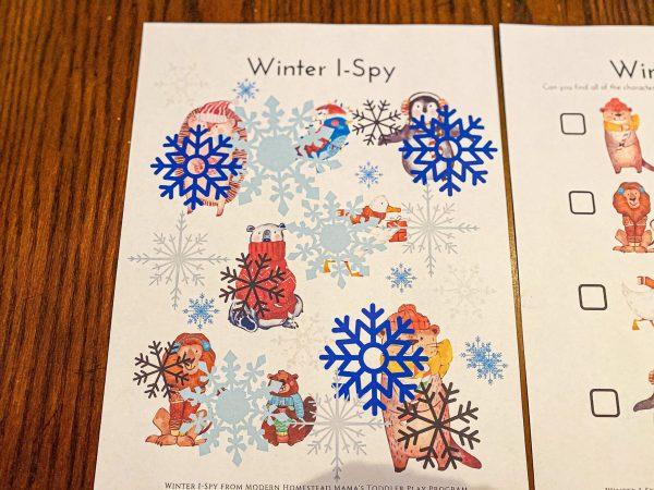 Winter I-Spy Toddler Printable