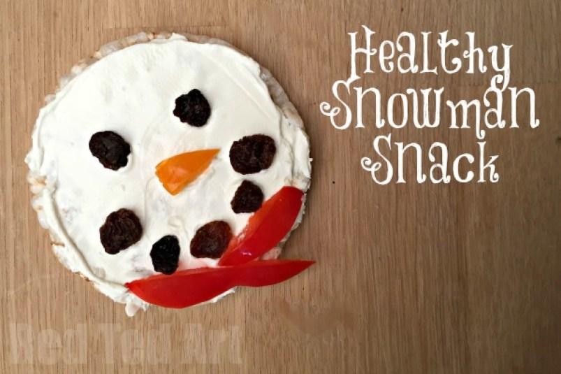 Healthy Snowman Snack