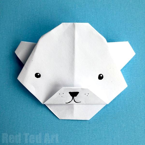 Simple Polar Bear Origami