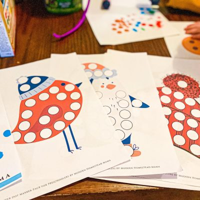 Winter Dot Marker Pack Printable for Preschoolers