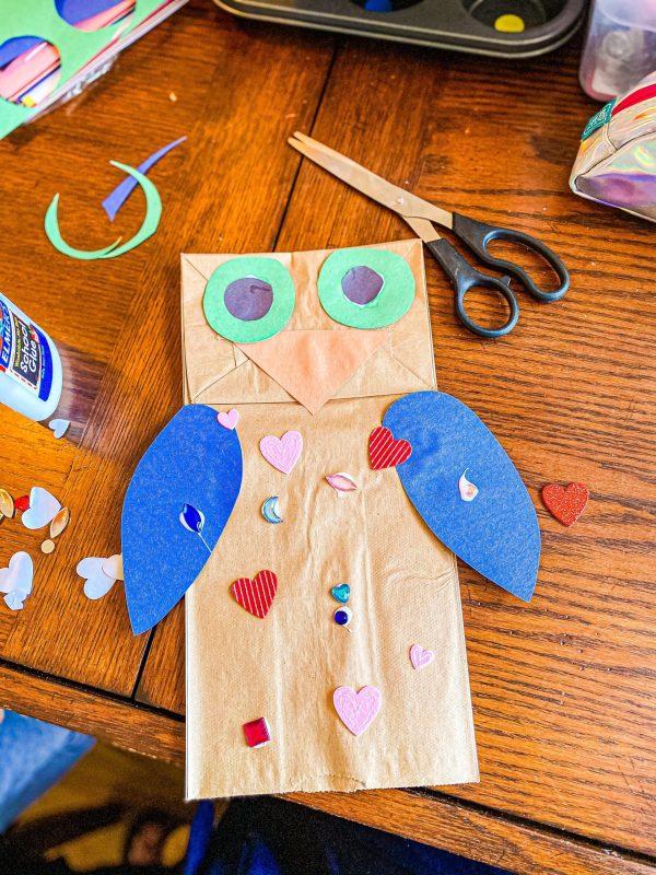Paper Bag Bird Craft