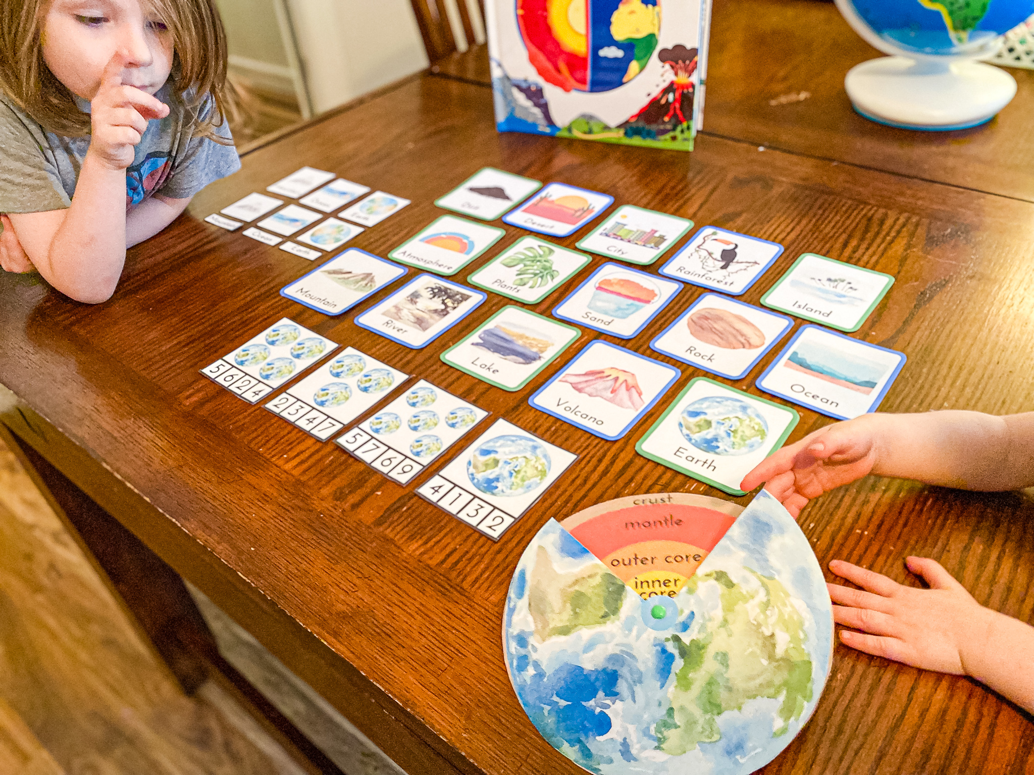 Layers of the Earth Craft Printable for Kids