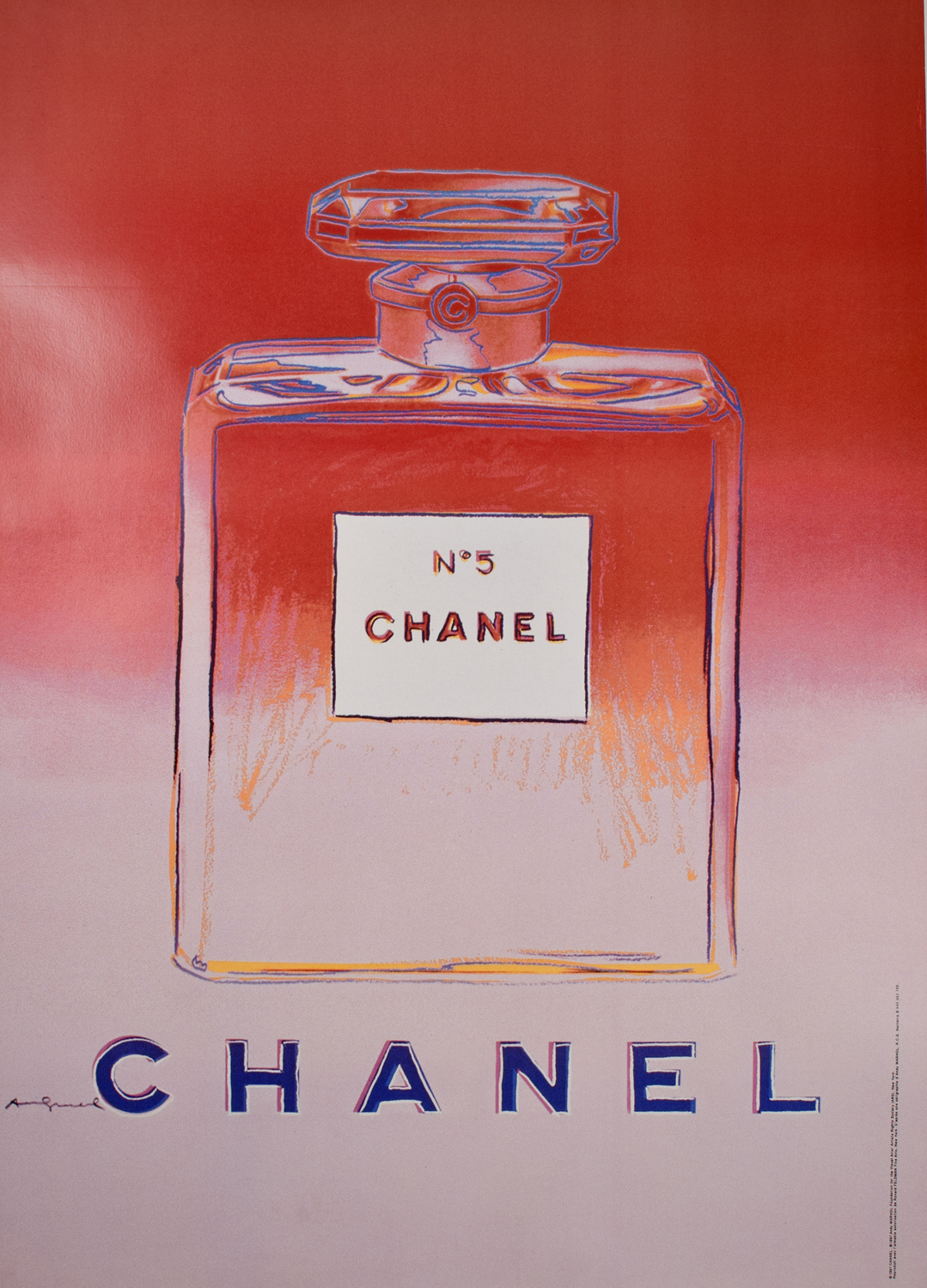 Chanel 5 Pink Designed By Andy Warhol Modernism