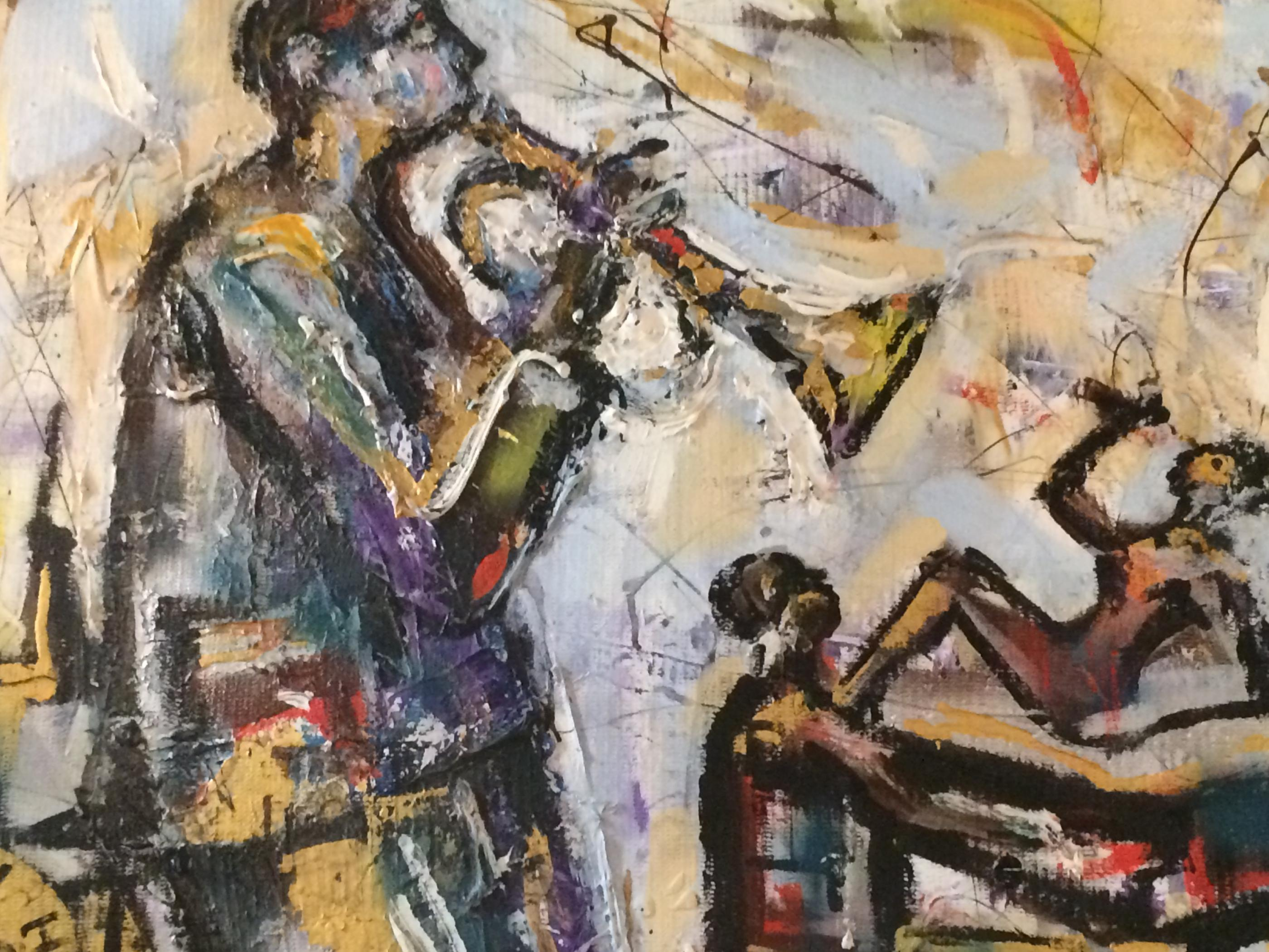 New Orleans Preservation Hall Painting Modernism