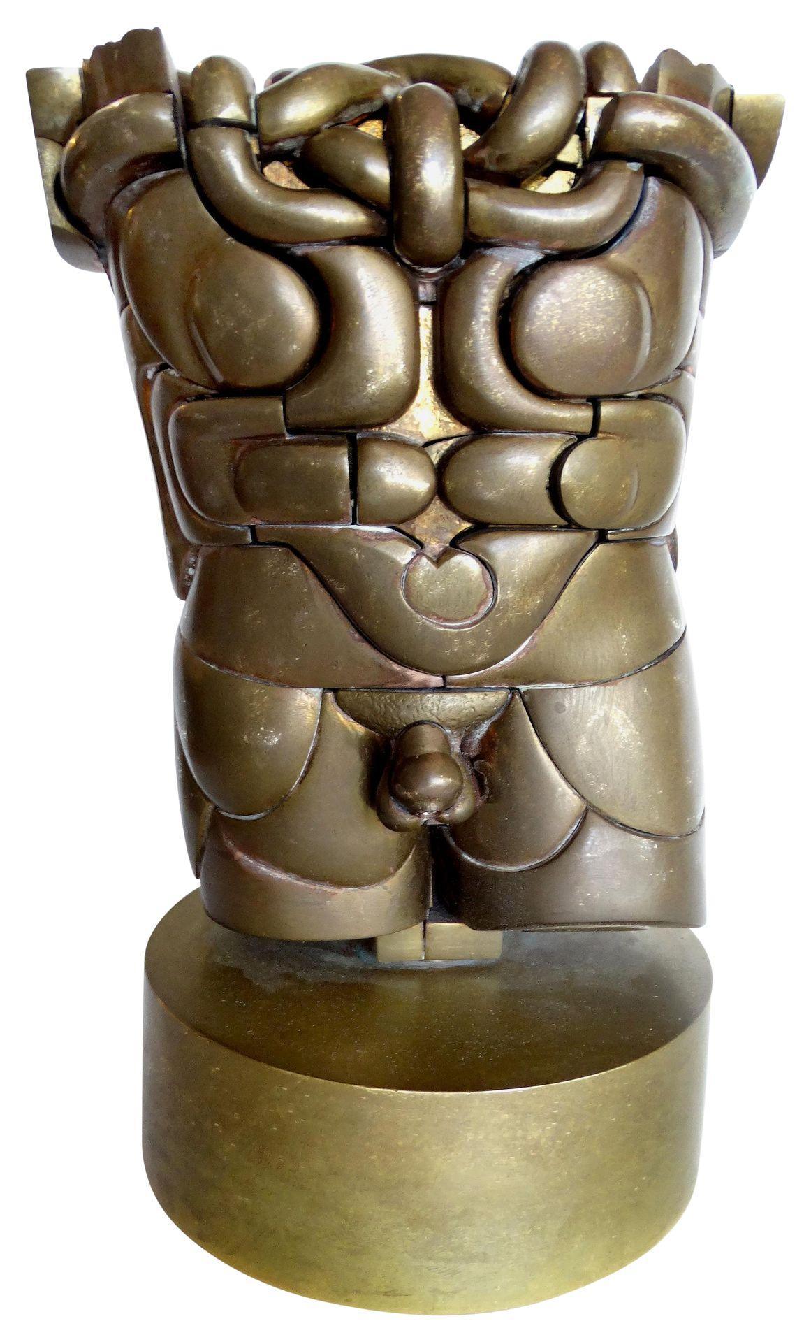 Goliath Bronze Puzzle Sculpture By Miguel Ortiz Berrocal