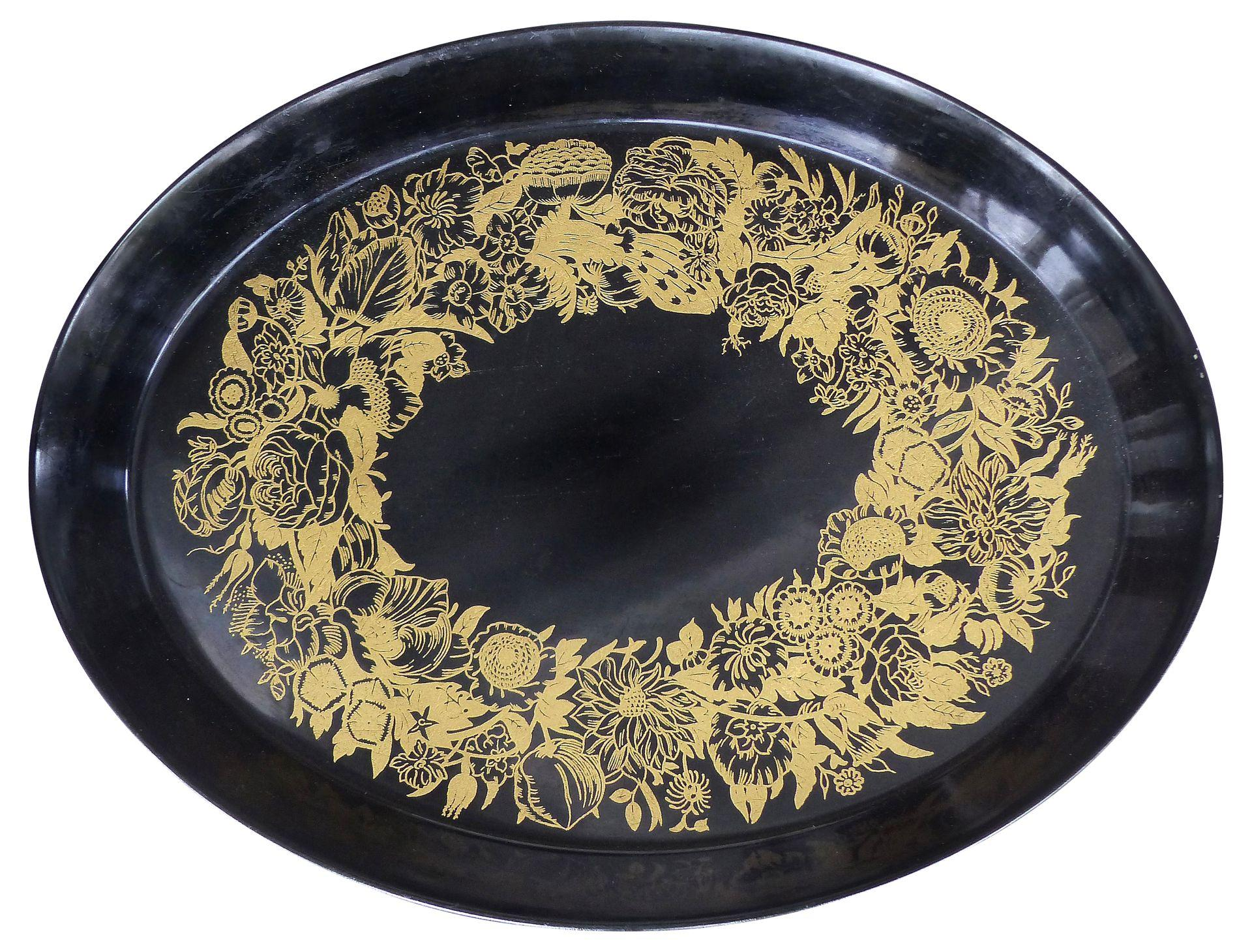 Large Oval Metal Piero Fornasetti Tray Modernism