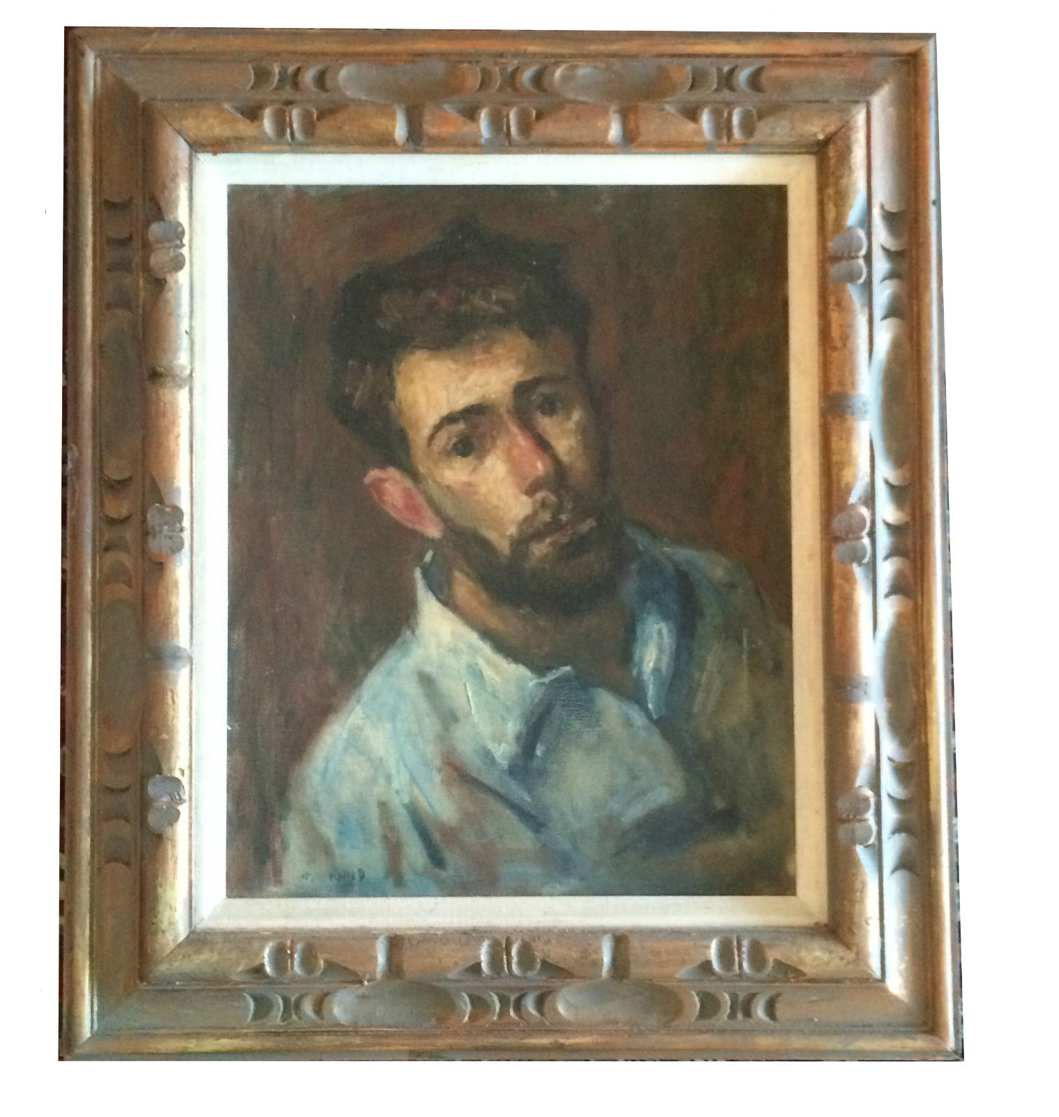 Thomas J Strickland Self Portrait Oil Impressionist