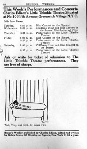 Clara Tice, Tub, Soap and Girl. 1:10 (22 Sept. 1915): back cover.