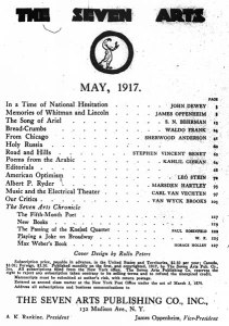 Table of contents. 2:1 (May 1917).