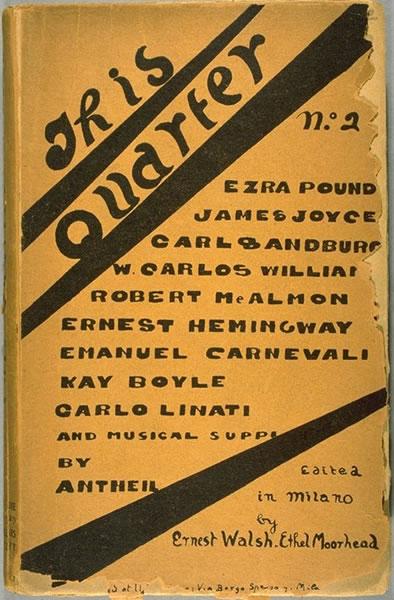 Cover design. This Quarter. 1:2 (Autumn 1925 - Winter 1926).