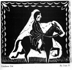 Juan Pi, Linoleum Cut. No. 12 (1925): 1.