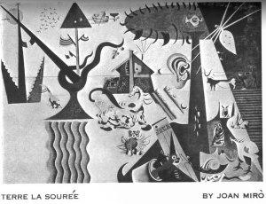 Joan Miró , Terre la Sourée . 12:1 (Spring 1926): insert.