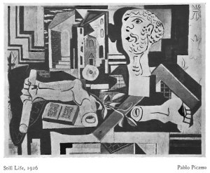 Pablo Picasso, Still Life. The Hound and Horn. 3:2 (1930): 188.