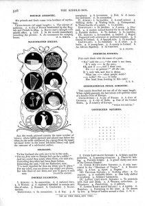 """""""The Riddle-Box."""" St. Nicholas. 24: 6 (April 1897): 528."""