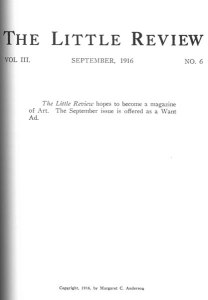 The title page at left was printed the following month. Title page. 3:6 (Sept. 1916).