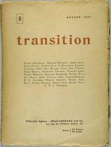 Cover design. Transition. No. 5 (Aug. 1927).