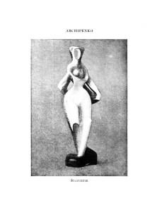 Alexander Archipenko, Statuette. No. 5 (Sept. 1920): 53.