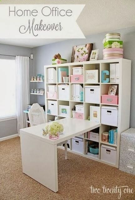 7 Rooms That Use IKEAs ExpeditKallax Shelving Modernize