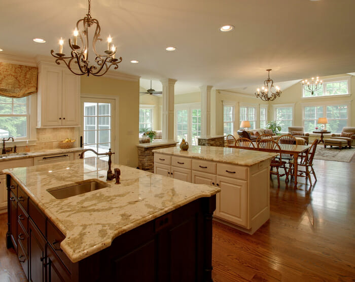 Family Room And Kitchen Ideas