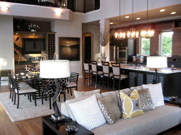 Open Concept Kitchen And Living Room Décor Modernize Part 83