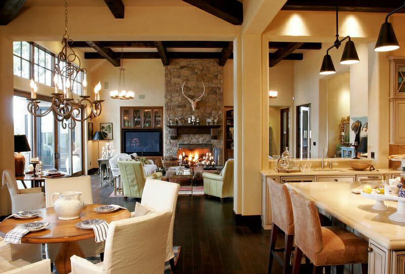 Open Concept Kitchen And Living Room Décor