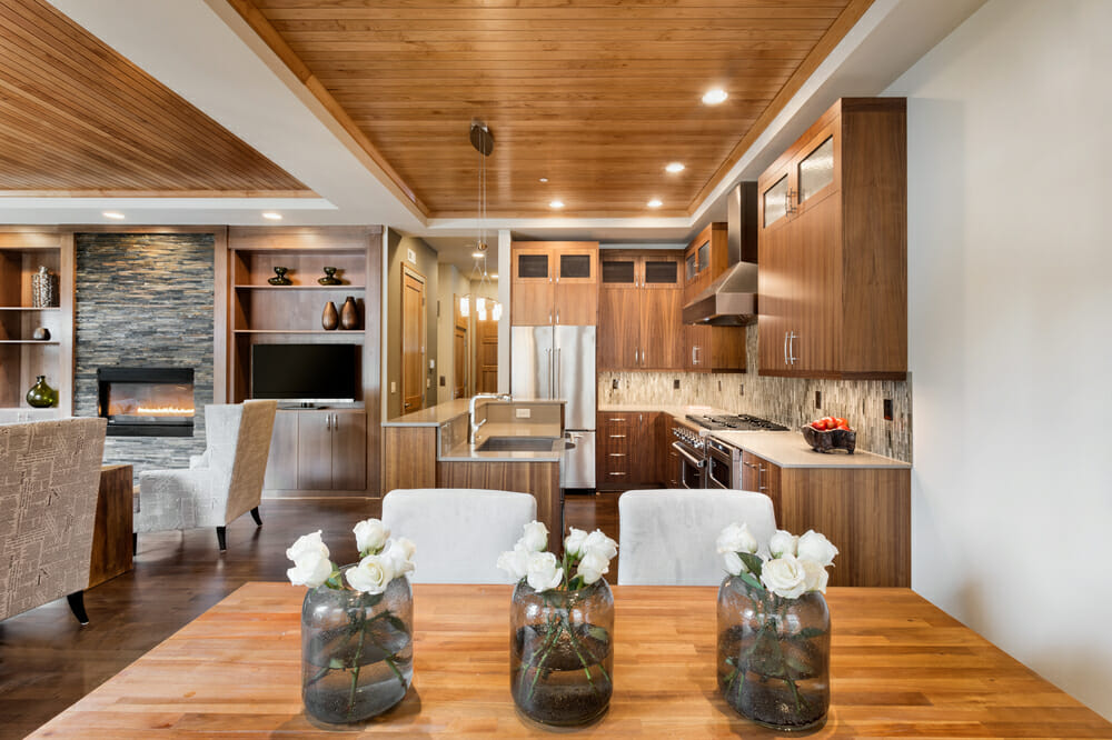 Tray Ceiling Designs - Modernize on Dining Table Ceiling Design  id=44342