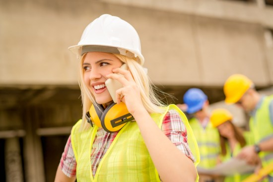 female-contractor-on-phone