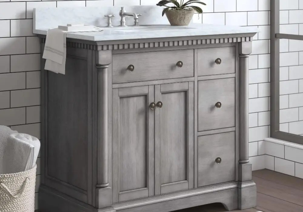 Grey bathroom vanities