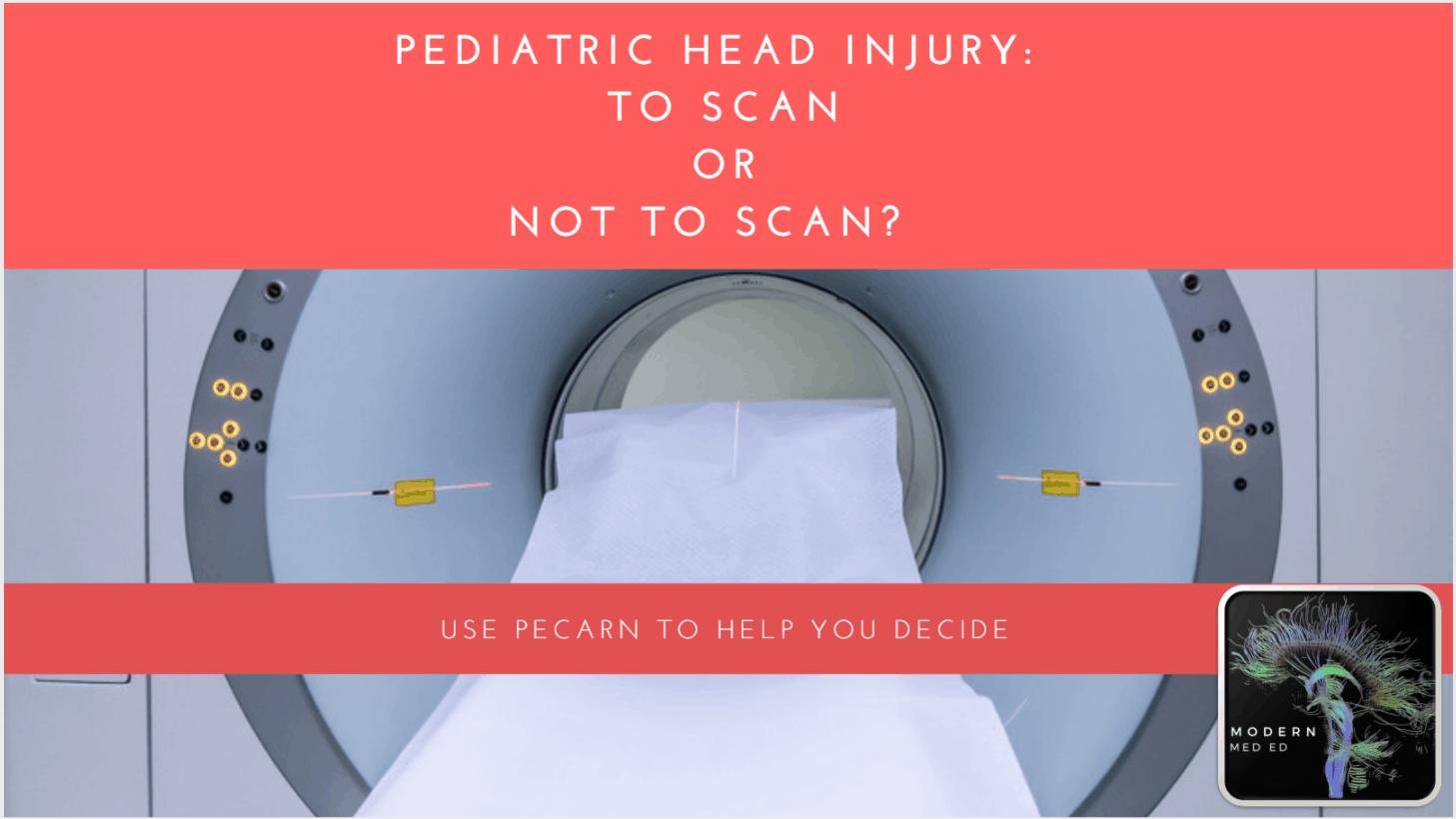 PECRAN Pediatric Head CT Head Injury Criteria