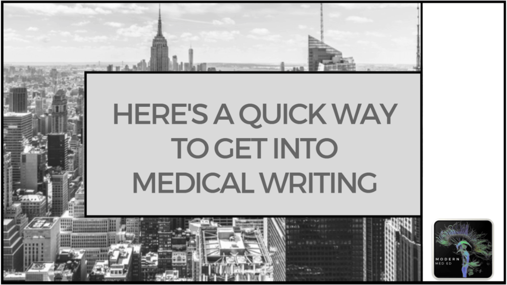 How to become a medical writer with courses and training