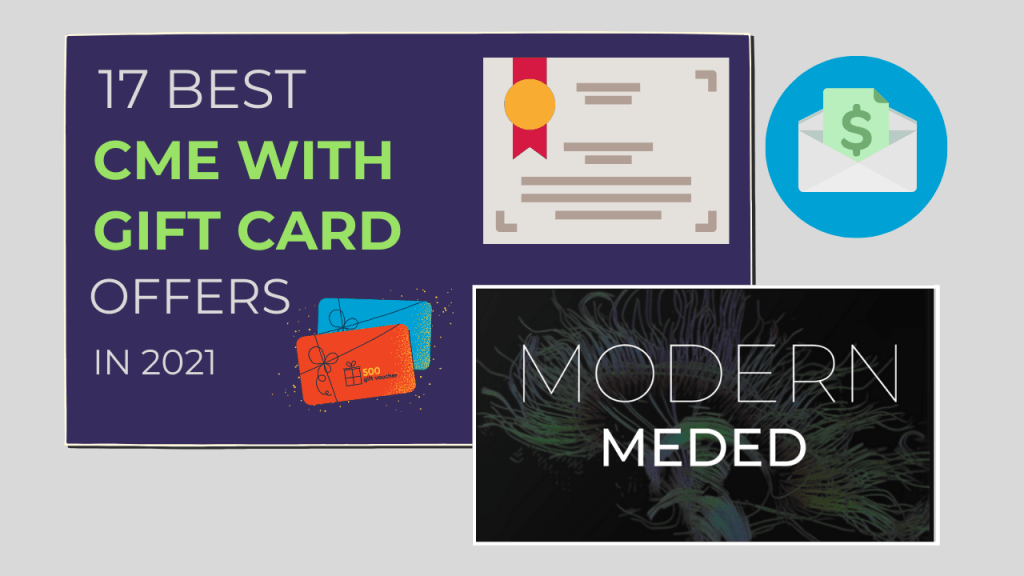 Best CME with gift card offers 2021