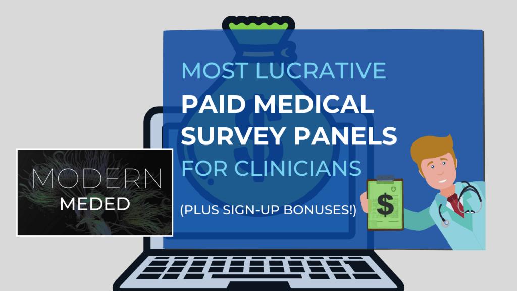Paid Medical Surveys for Clinicians