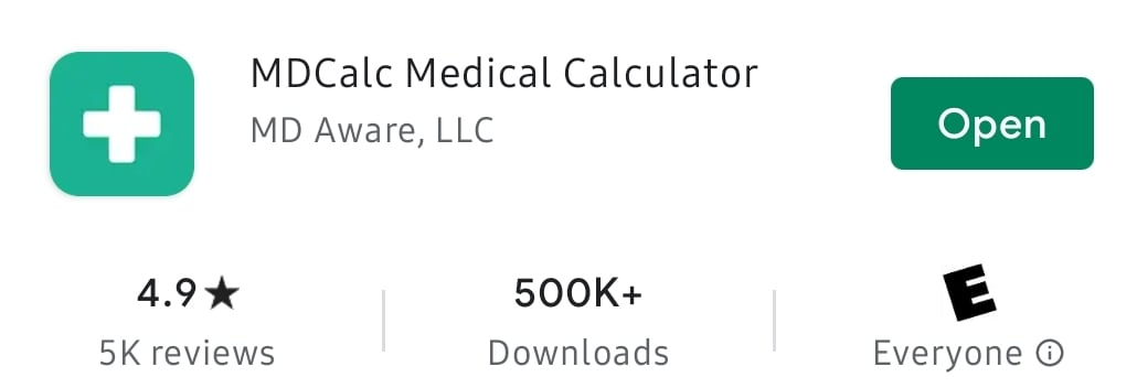 MDCalc CME Point of Care Medical App